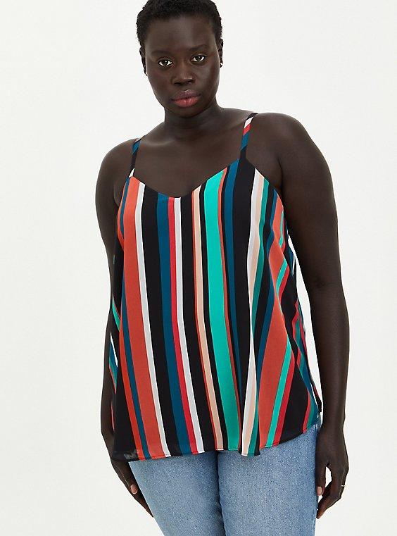 Sophie - Multi Stripe Chiffon Swing Cami, , hi-res