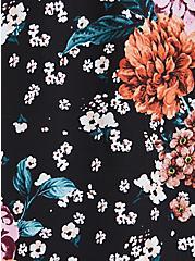 Plus Size Halter Top - Georgette Black Floral , FLORAL - BLACK, alternate