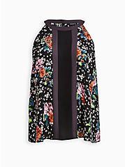 Plus Size Halter Top - Georgette Black Floral , FLORAL - BLACK, hi-res