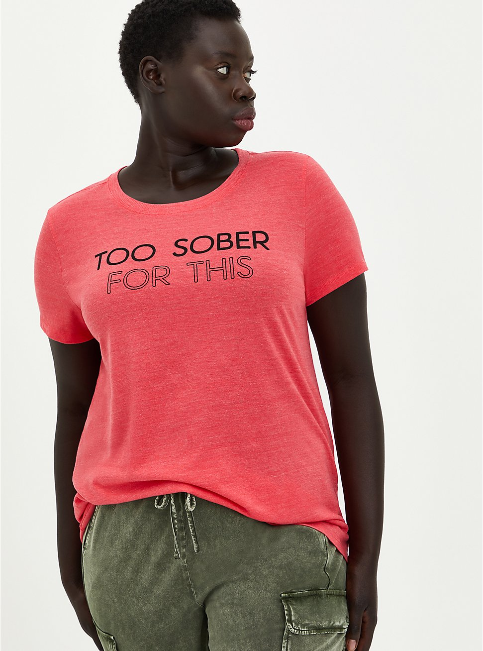 Classic Fit Vintage Tee - Triblend Jersey Bright Berry Too Sober, TEABERRY, hi-res