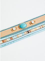 Faux Turquoise Stone Magnetic Bracelet, MULTI, alternate