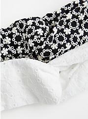 Black & White Floral Soft Headbands - Set of 2, , alternate