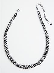 Hematite Pave Link Single Necklace, , alternate