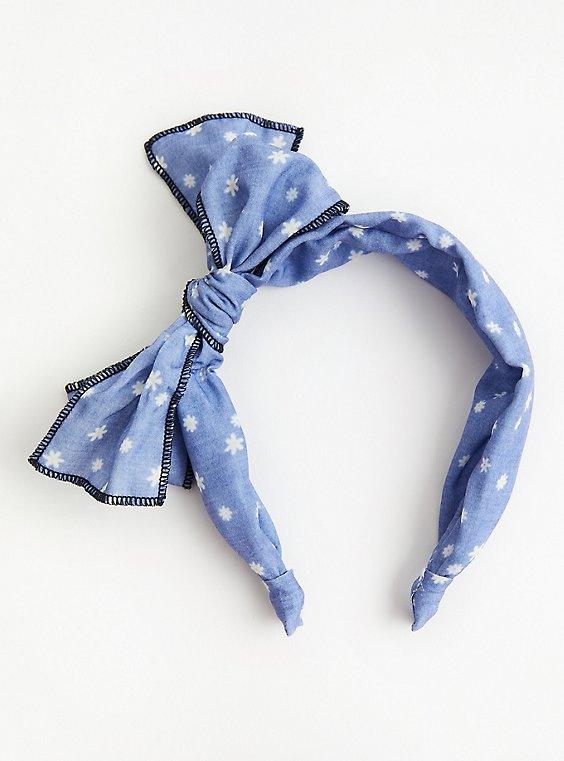 Chambray & Stars Bow Headband, , hi-res