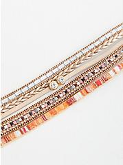 Plus Size Magnetic Bracelet - Orange & Neutral , MULTI, alternate