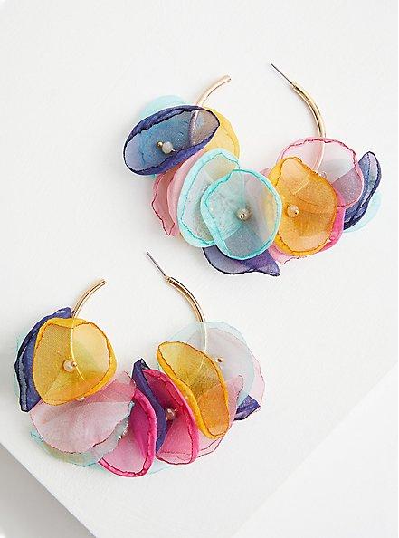 Multi Color Petal Hoop, , alternate