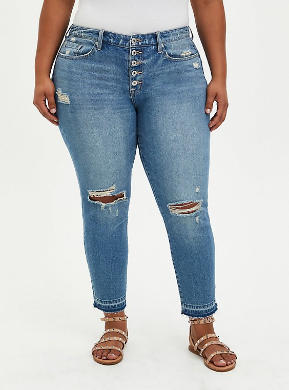 High Rise Straight Jean - Classic Denim Medium Wash, TOP SHELF, hi-res