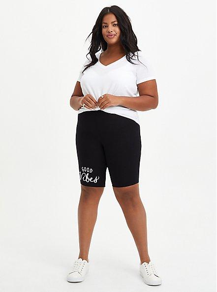 Black Good Vibes Bike Short, BLACK, hi-res