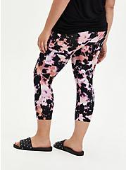 Capri Premium Legging - Bleached Tie-Dye Pink, TIE DYE, alternate