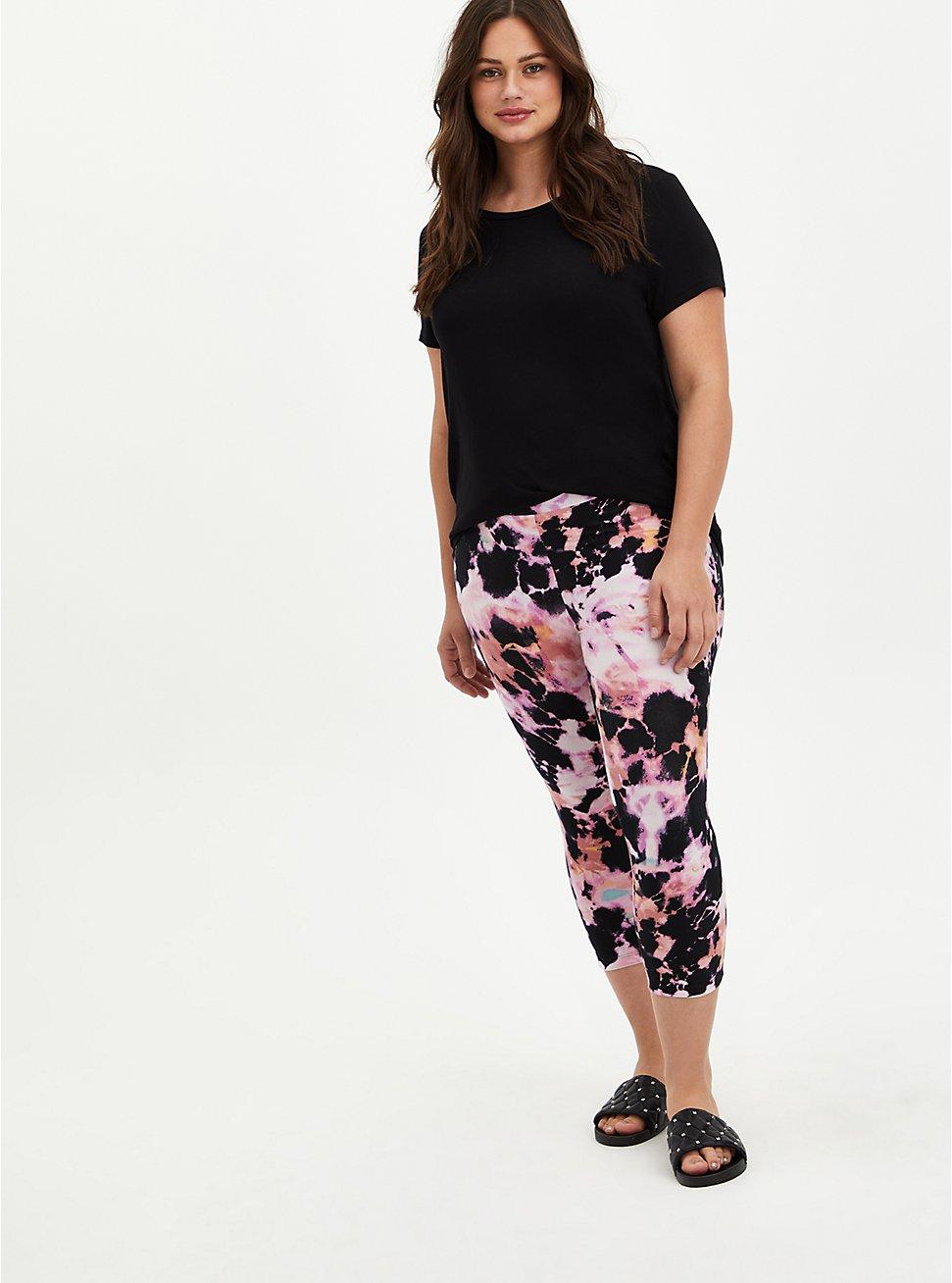 Capri Premium Legging - Bleached Tie-Dye Pink, TIE DYE, hi-res