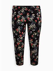 Plus Size Crop Premium Legging - Multi Floral, MULTI, hi-res