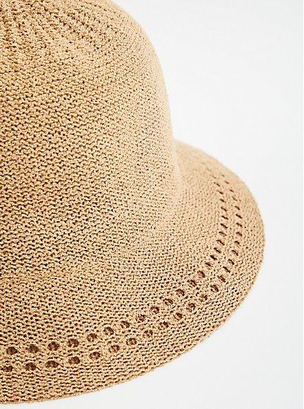 Plus Size Camel Bucket Hat, BEIGE, alternate