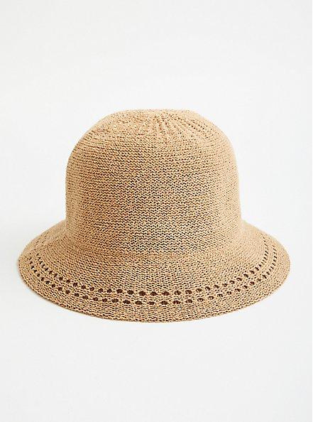 Plus Size Camel Bucket Hat, BEIGE, hi-res