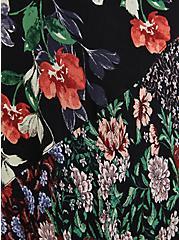 Floral Fabric Mixed Hi-Low Kimono, MULTI FORAL, alternate