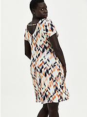 Fluted Mini Dress - Super Soft Geometric Multi, GEO-MULTI, alternate