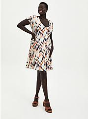 Fluted Mini Dress - Super Soft Geometric Multi, GEO-MULTI, hi-res