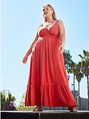 Tiered Maxi Dress - Super Soft Rust, RUST, hi-res