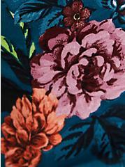 Halter Skater Dress - Studio Knit Floral Blue, , alternate