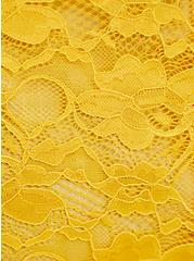 Drape Front Kimono - Lace Yellow, , alternate
