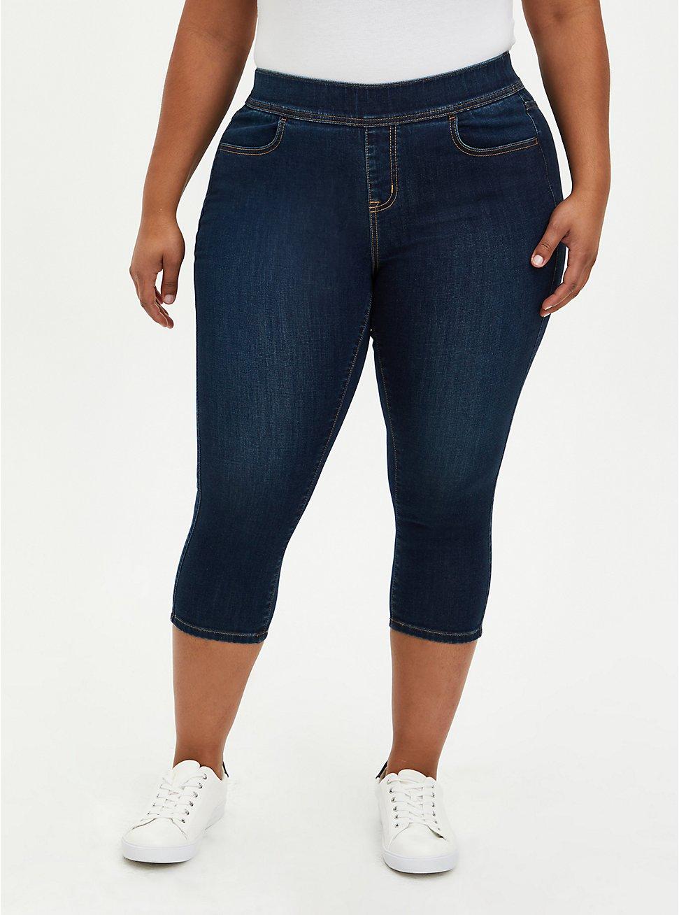 Crop Lean Jean - Super Soft Dark Wash, BASIN, hi-res