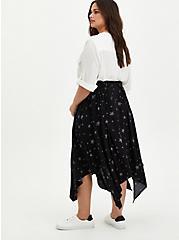 Handkerchief Midi Skirt - Challis Star Black, TIGER DYE, alternate