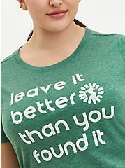 Plus Size Slim Fit - Signature Jersey Leave It Better Green, FOLIAGE GREEN, alternate