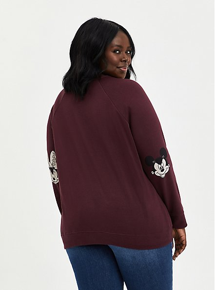 Disney Mickey & Friends Cut-Out Halloween Sweatshirt, BURGUNDY, alternate
