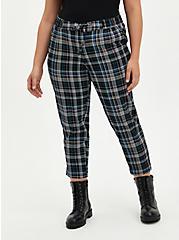 Drawcord Trouser - Stretch Challis Plaid , MULTI, hi-res