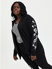 Plus Size Warner Bros. Corpse Bride Active Zip Hoodie - Emily Black, DEEP BLACK, alternate