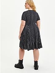 Disney The Nightmare Before Christmas Jack Stripe Skater Dress, BLACK-WHITE STRIPE, alternate