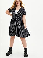 Disney The Nightmare Before Christmas Jack Stripe Skater Dress, BLACK-WHITE STRIPE, hi-res