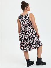 Disney Aristocats Skater Dress, FLORAL - BLACK, alternate