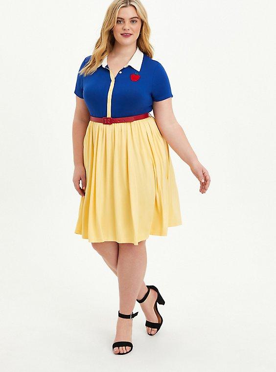 Disney Snow White Button Down Dress, SUNDRESS, hi-res