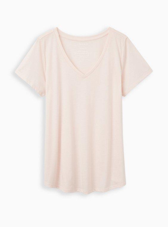 Girlfriend Tee - Signature Jersey Light Pink , PINK, hi-res