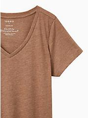 Girlfriend Tee - Signature Jersey Brown, BROWN, alternate