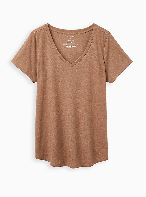 Girlfriend Tee - Signature Jersey Brown, , hi-res