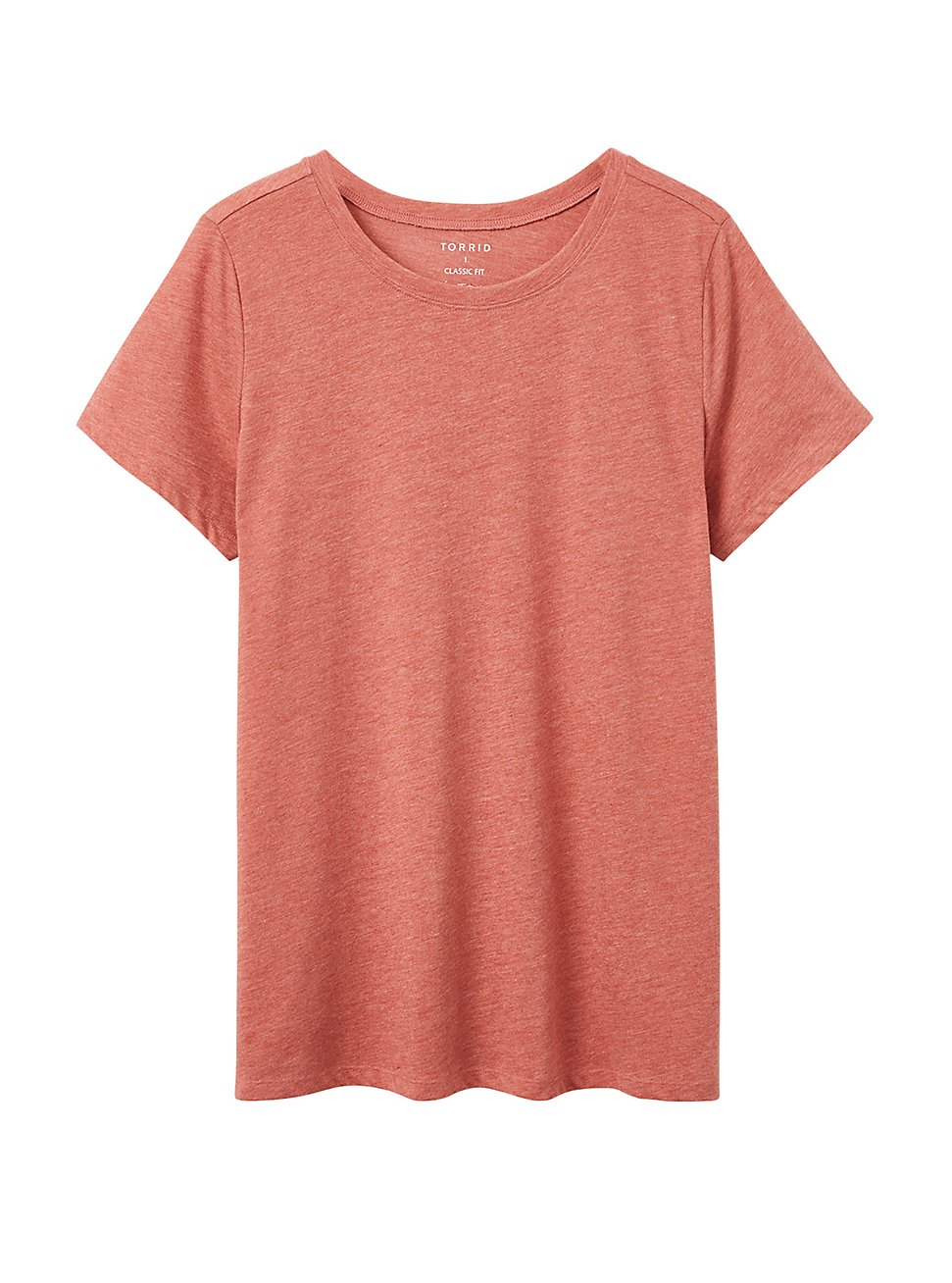 Plus Size Everyday Tee - Signature Jersey Red, BROWN, hi-res
