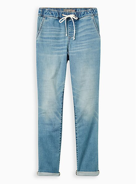Pull-On Boyfriend Jean - Super Soft Medium Wash, SALT MARSH, hi-res