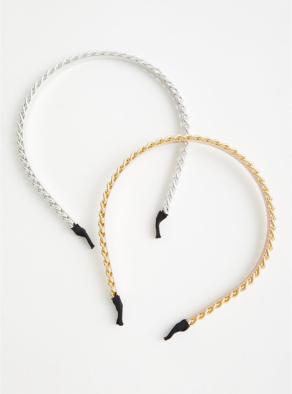Link Headband Set - Gold & Silver , , hi-res