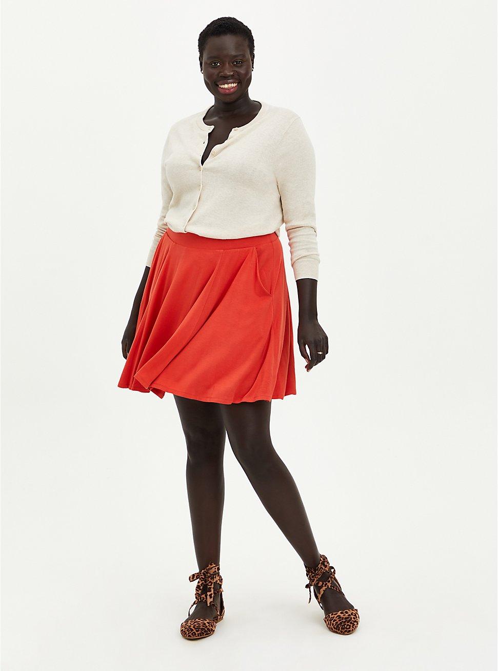 Skater Skirt - Super Soft Orange, RUST, hi-res