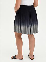 Skater Skirt - Super Soft Dip Dye Black & Grey , GREY  BLACK, alternate
