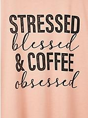 Relaxed Fit Tee - Triblend Stressed Blessed Pink, PEACH BEIGE, alternate