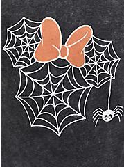 Disney Minnie Mouse Mineral Wash Spider Web Hoodie - Black, DEEP BLACK, alternate
