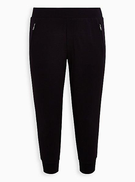 Relaxed Fit Jogger - Lightweight Ponte Black, DEEP BLACK, hi-res