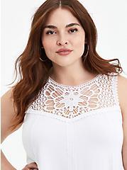 Embroidered Tank - Super Soft White , BRIGHT WHITE, alternate