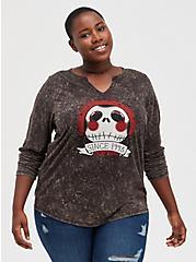 Disney The Nightmare Before Christmas Jack Skull Top, DEEP BLACK, hi-res