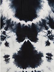 Black & White Tie Dye Poncho, , alternate