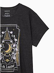 Relaxed Fit Crew Tee – La Lune Charcoal, CHARCOAL, alternate