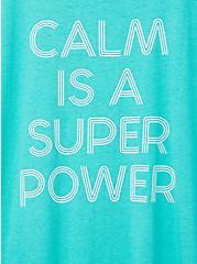 Relaxed Fit Crew Tee – Calm Power Aqua, AQUA GREEN, alternate