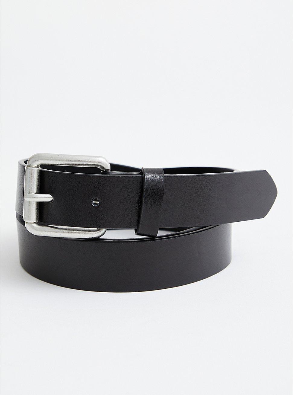 Black Leather Jean Belt , BLACK, hi-res